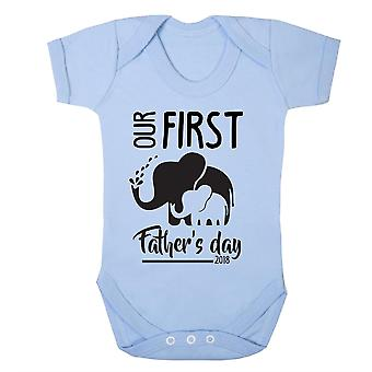 First father's day elephant design babygrow