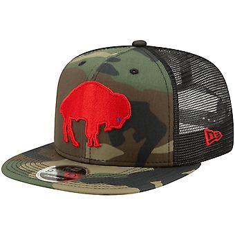 Throwback Buffalo laskut Mesh 9Fifty SnapBack Cap puu Camo