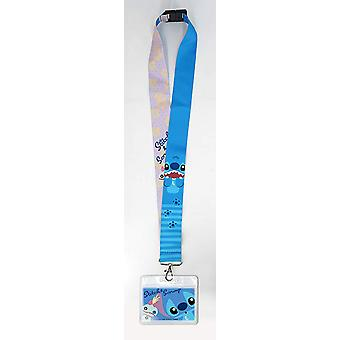 Lanyard - Disney - Stitch w/Deluxe Card Holder New 85989