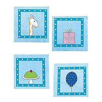 Jabadabado Birthday Blue Napkin (Babies and Children , Costumes)
