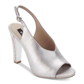 DKNY Womens Col-Peep Toe Leather Open Toe SlingBack Classic Pumps