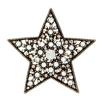 Eternal Collection Night Sky Multi Autrichien Crystal Gold Tone Star Brooch