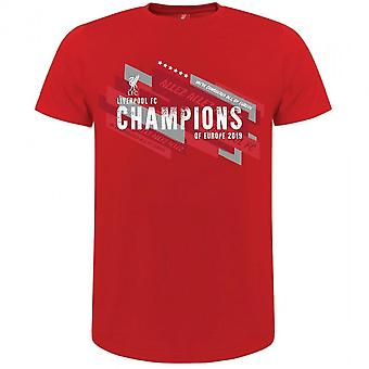 Liverpool FC Mens Champions Of Europe T Shirt