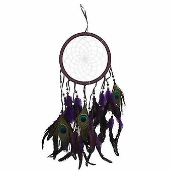 Dream Catcher Large Purple Peacock Feathers