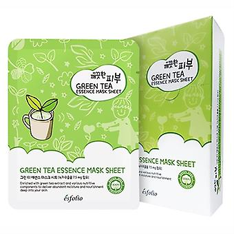 Esfolio Green Tea Essence Mask 10 Sheets