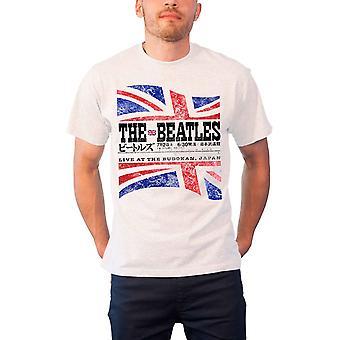 The Beatles T Shirt live at Budoken Japan Set List new Official Mens White