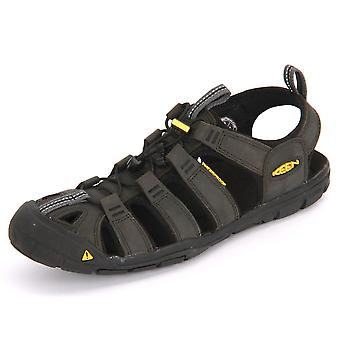 Keen Clearwater Cnx Leather Magnet Black 1013107 trekking summer men shoes