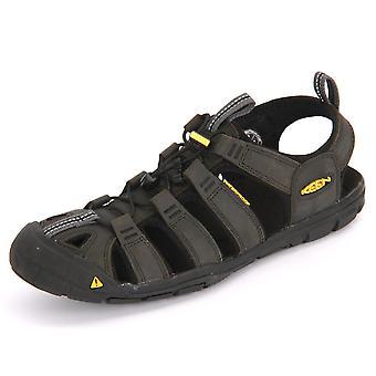 Keen Clearwater Cnx cuero magnet negro 1013107 trekking zapatos de hombre de verano