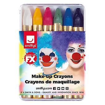 Carnival Greasepaint fargestifter, blandet farger, 6 farge Pack, 12 pakker i Polybag Fancy kjole tilbehør