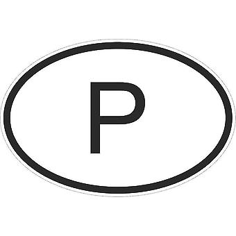 Sticker sticker sticker sticker vlag ovale code land auto moto Portugal Portugees P