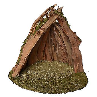 UNIKAT Root Crib 5 Christmas crib Stall Crib syness stall Genuine wood handmade from Bavaria for figures up to 15 cm