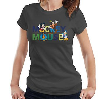 Disney Mickey Mouse And Friends Colour Logo Women's T-Shirt
