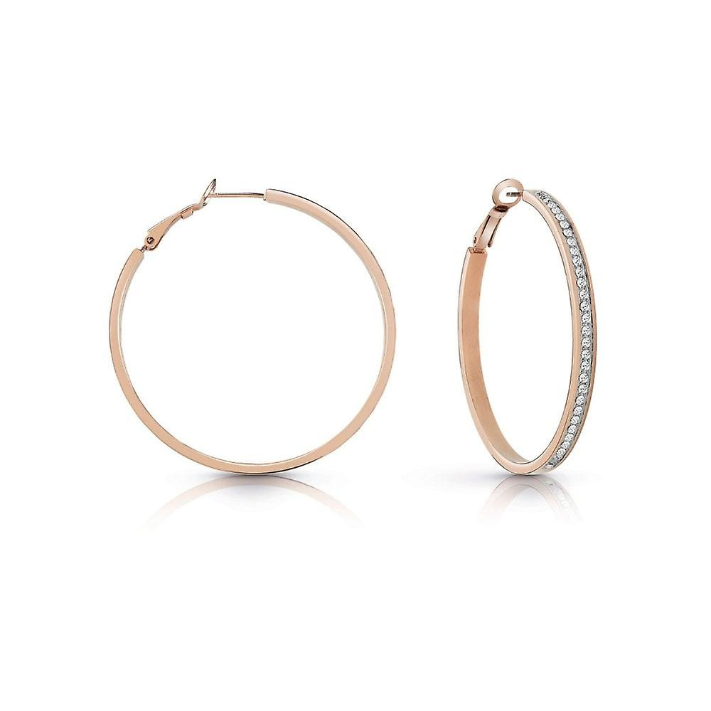 Guess Jewellery Guess Rose Gold Plated Swarovski Crystal Pave Earrings UBE28096