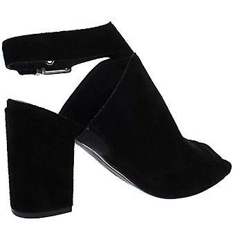 Lucca Lane Womens Seleste Faux Suede Ankle Strap Block Heels