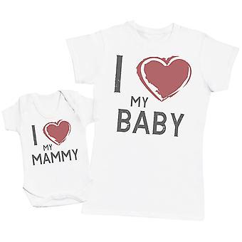 Ik hou van mijn Mammy & baby-Womens T shirt & Baby Romper