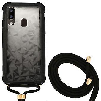 Samsung A20 und Samsung A30 Case schwarz mit Schnur