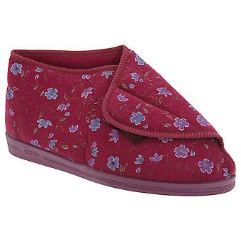Comfylux Womens/Ladies Andrea Floral Bootee Slippers