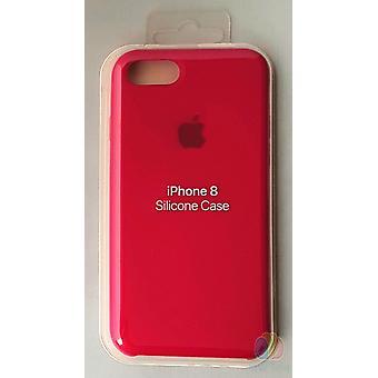 Originalverpackt Apple Silikon Mikrofaser Cover Hülle für iPhone 8 / 7 - Rosenrot