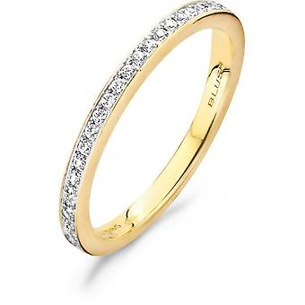 Ring Blush 11199BZI - Yellow gold ring and zirconium oxides serti grains 1/9mm Women