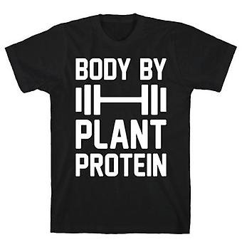 Body by plant protein black t-shirt