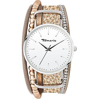 Tamaris - Wristwatch - Women - TW101 - silver, beige