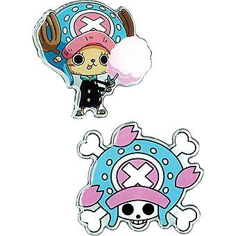Pin Set - One Piece - Chopper & Chopper Pirates Jolly Roger New ge50518