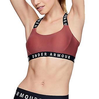 Under Armour Wordmark strappy Womens Fitness träning sport bh Rust