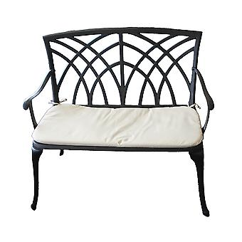 Charles Bentley Metal Cast Aluminium 2 Seater Garden Patio Bench Seat