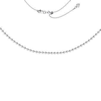 925 Sterling Silver Rhodium Plaqué 3mm Perlée Choker Necklace 17 Inch Bijoux Cadeaux pour les femmes
