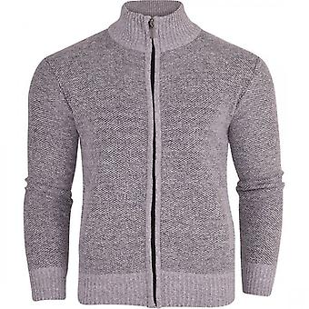 Secolo Mens Padded Heavy Weight Jumper Cardigan Fleece Lined Full Zip Sweater Cardi Check Lined