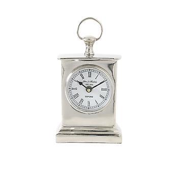 Light & Living Clock 10x6x17cm Hendricks Standing Nickel