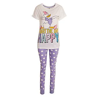Disney Womens/Ladies Daisy Duck Cotton Pyjama Set