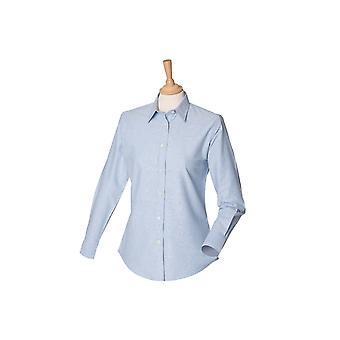 Henbury women's classic long sleeved oxford shirt hb511