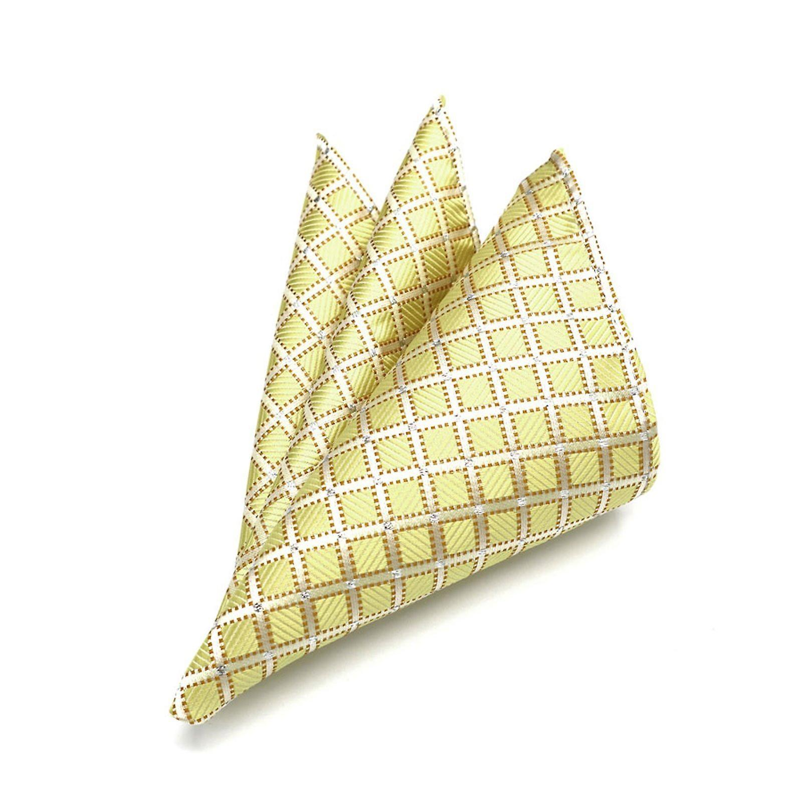 Indian wedding gold & silver patterned pocket square