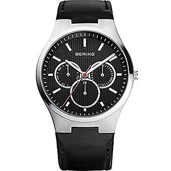 BERING Analog quartz men's watch with leather 13841-404