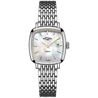 Windsor cushion Quartz Analog Woman Watch with Stainless Steel Bracelet LB05305/07