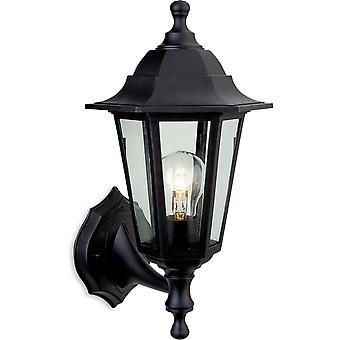 Firstlight Staid Traditional Black Coach Lantern Outdoor