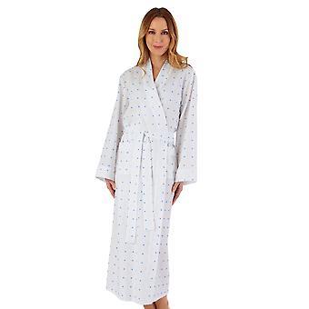 Slenderella HC55235L Women's Spotty Cotton Robe Dressing Gown