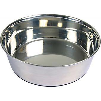 Trixie Comedero acero Inox, base caucho 1,7 l, (Dogs , Bowls, Feeders & Water Dispensers)