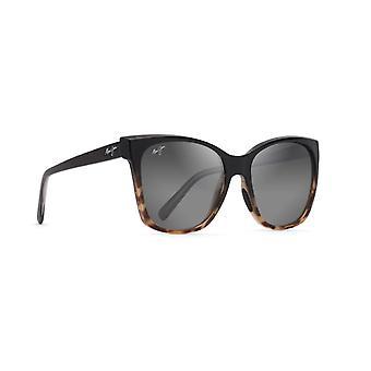 Maui Jim Alekona GS793 02T Zwart met Tokyo Schildpad/Neutrale Grijze Zonnebril