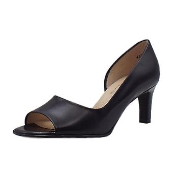 Peter Kaiser beate tyylikäs avoin toe kengät musta
