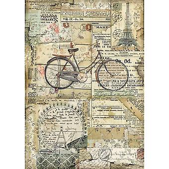 Stamperia Rice Paper Sheet A4-Bicycle