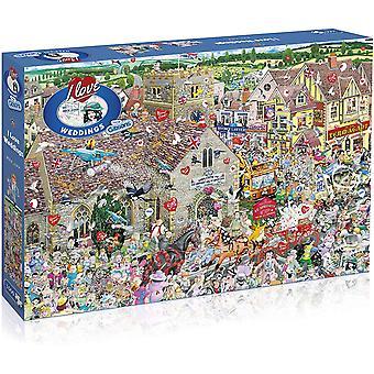 Gibsons 1000 Piece I Love Weddings Jigsaw Puzzle