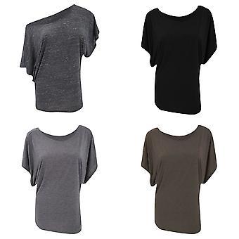 Bella Ladies/Womens Flowy Draped Dolman Short Sleeve T-Shirt