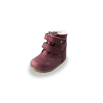 Bobux step up plum aspen waterproof fur-lined boots