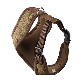 House Of Paws Memory Foam Tweed Dog Harness