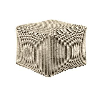 Nijlpaard | Square Bean Bag Footstool Pouffe Seat in Soft Jumbo Cord Fabric (Staal)