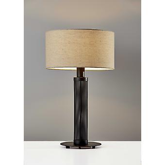 "15"" X 15"" X 24.75"" Black Metal Table Lamp"