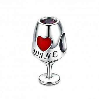 Sterling Silver Charm Wineglass - 5668