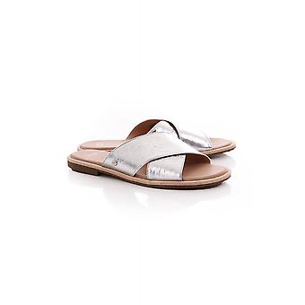 UGG Womens Joni Metallic Textured Cross Slider